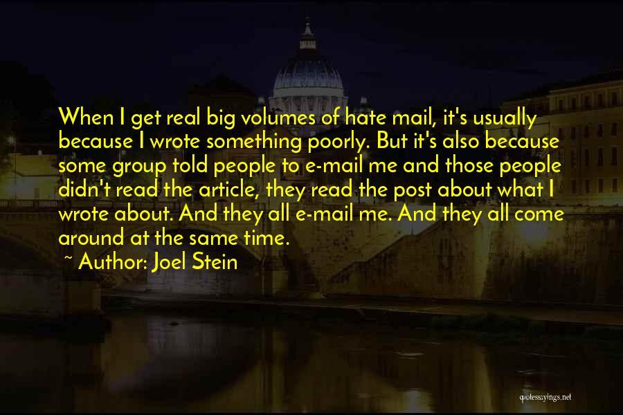 Joel Stein Quotes 428891