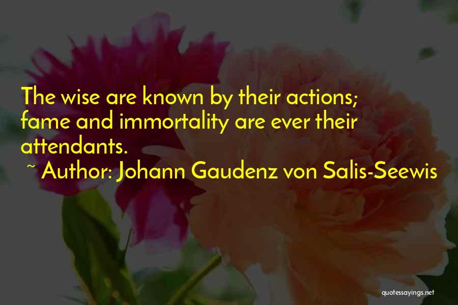 Johann Gaudenz Von Salis-Seewis Quotes 375118