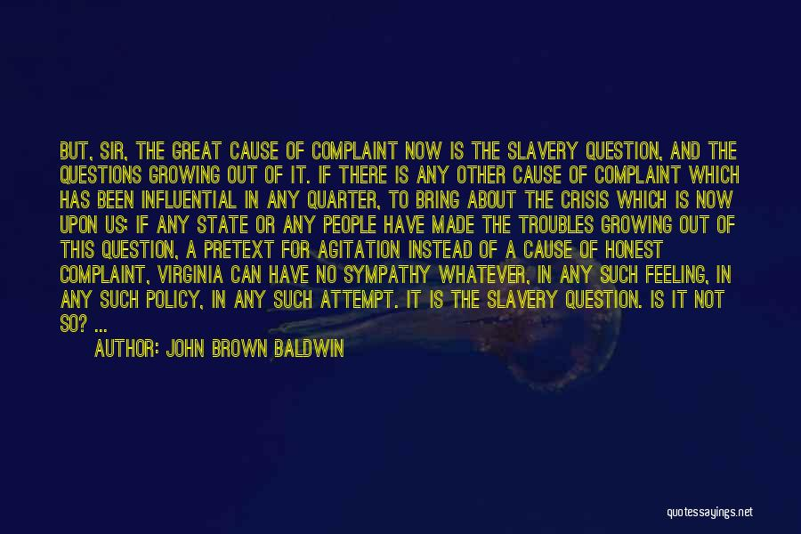 John Brown Baldwin Quotes 1078905