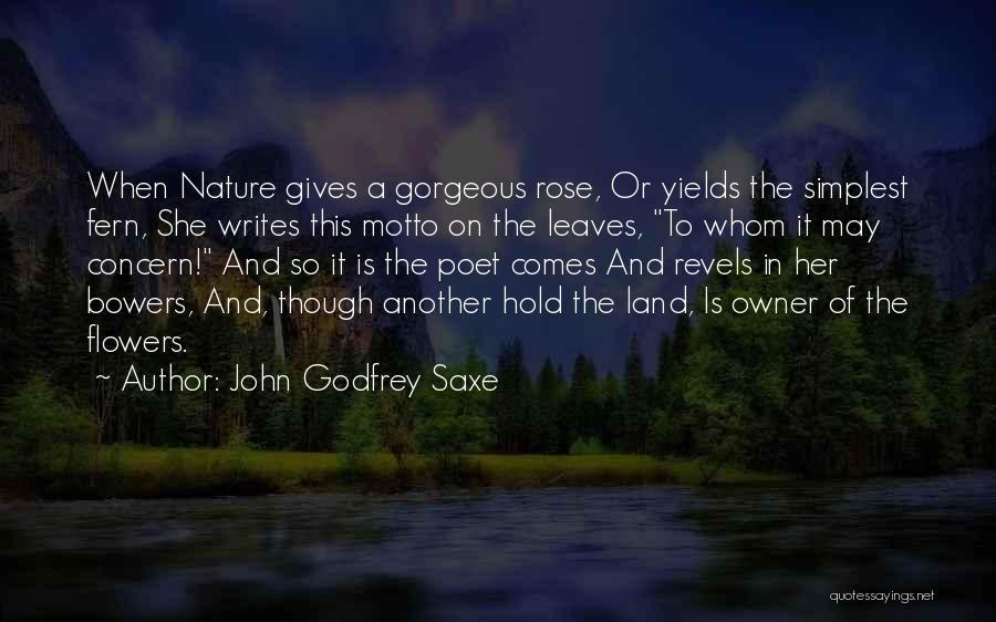 John Godfrey Saxe Quotes 1767785