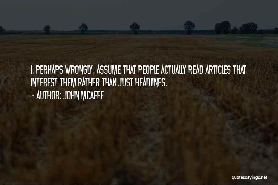 John McAfee Quotes 1444737