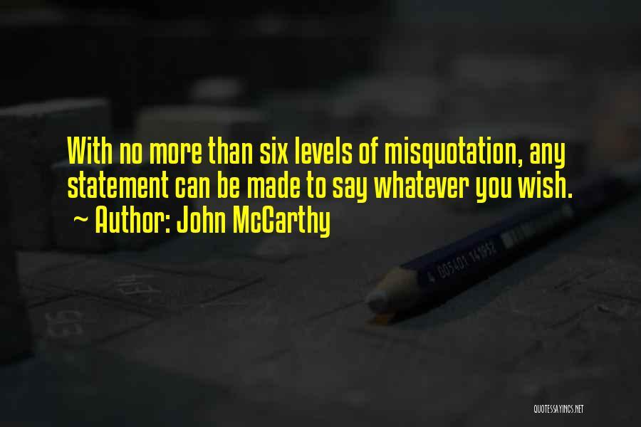 John McCarthy Quotes 144023