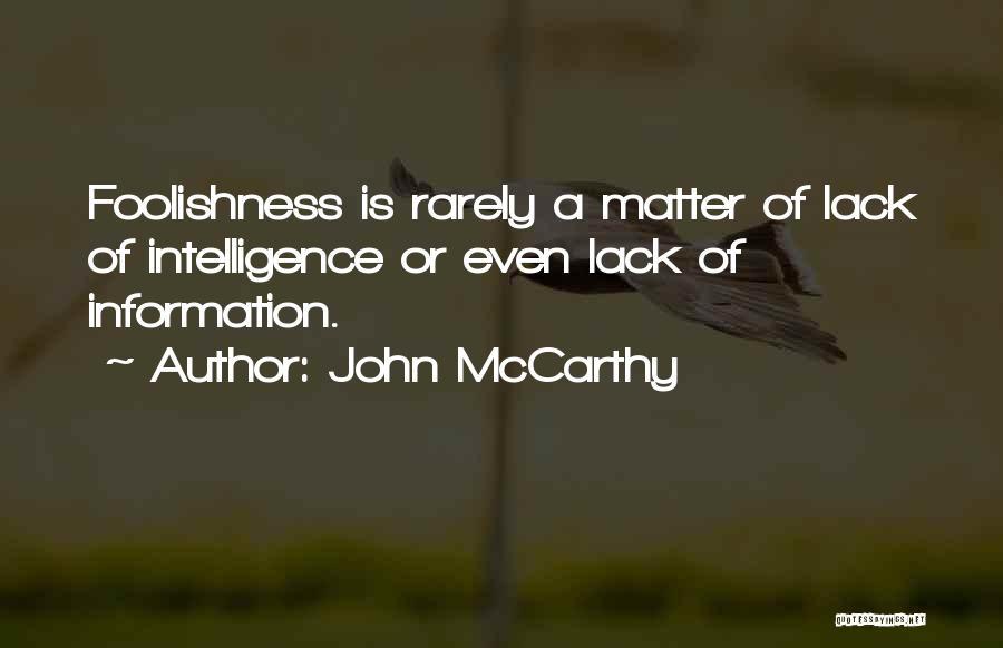 John McCarthy Quotes 892112