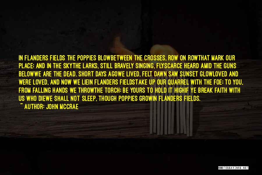 John McCrae Quotes 2186526