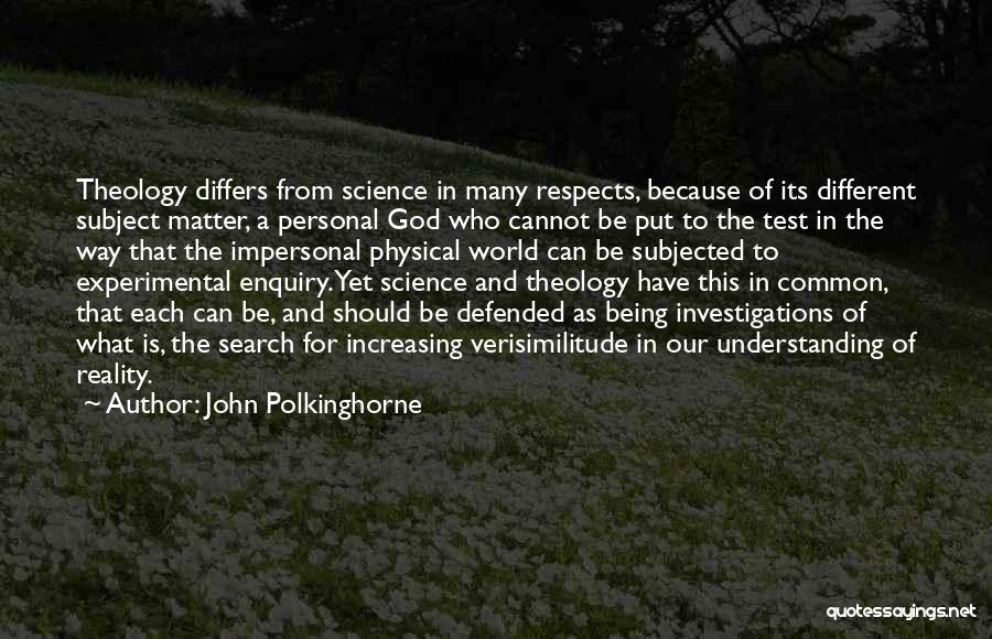 John Polkinghorne Quotes 1866279