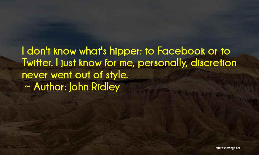 John Ridley Quotes 1013845
