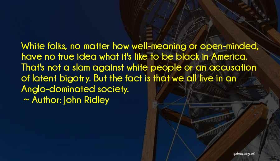 John Ridley Quotes 1229935