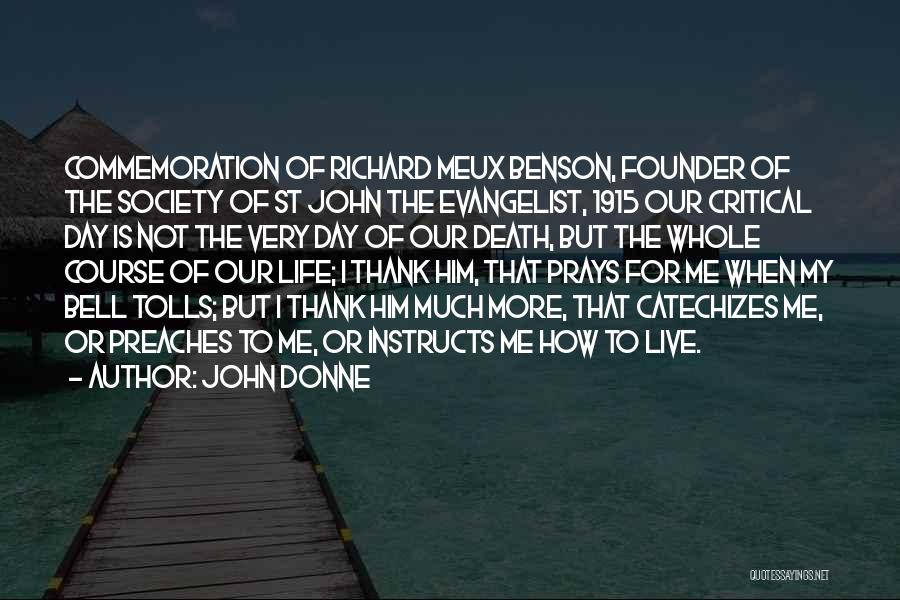 John The Evangelist Quotes By John Donne