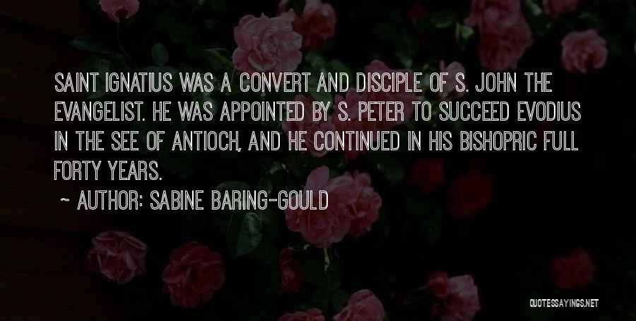 John The Evangelist Quotes By Sabine Baring-Gould