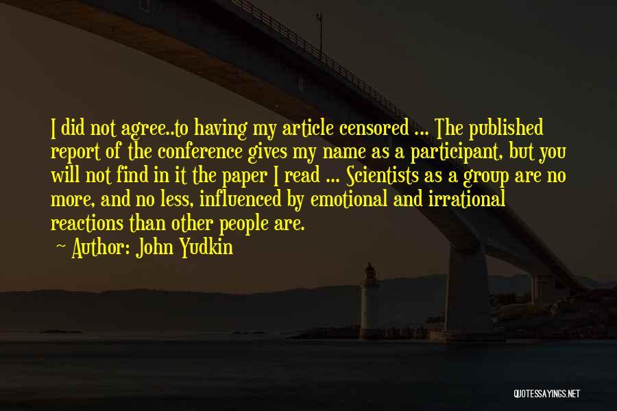 John Yudkin Quotes 2153016