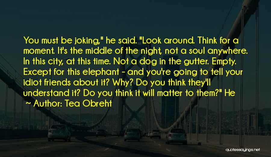 Joking With Friends Quotes By Tea Obreht