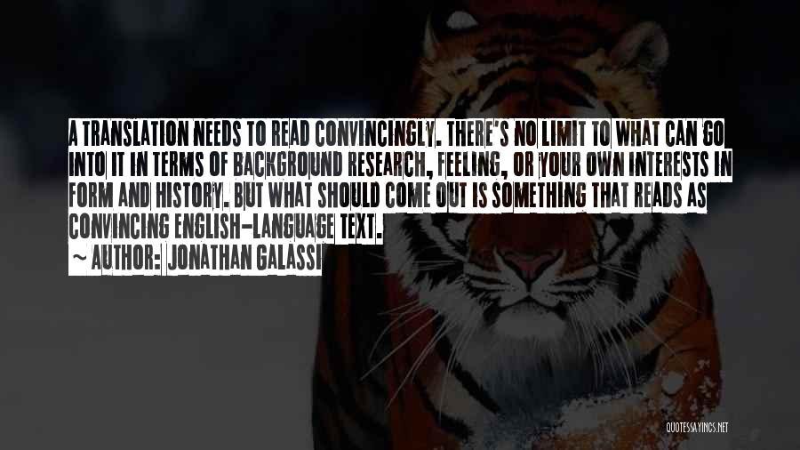 Jonathan Galassi Quotes 100428