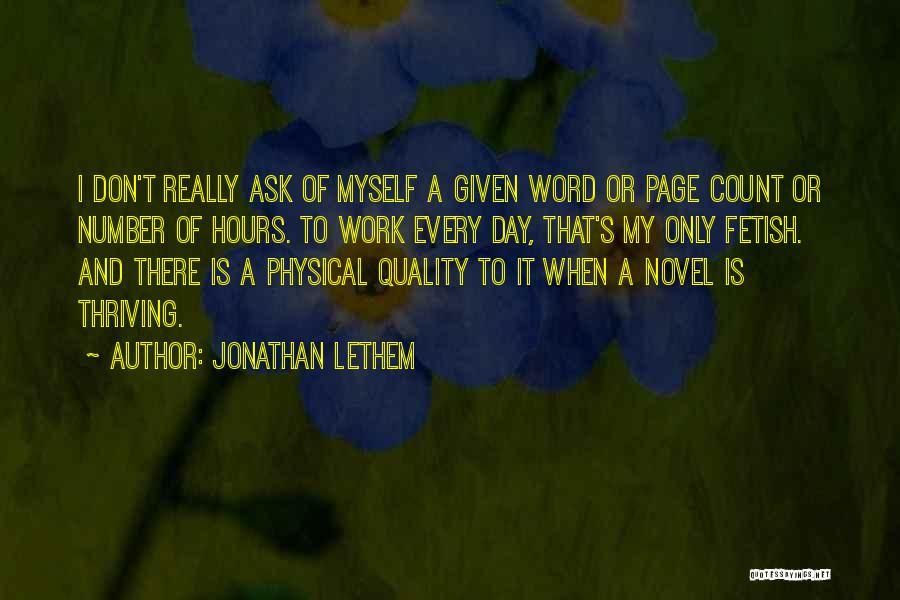 Jonathan Lethem Quotes 344314