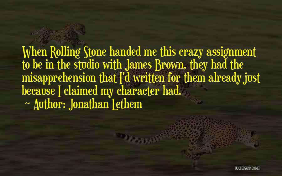 Jonathan Lethem Quotes 580214
