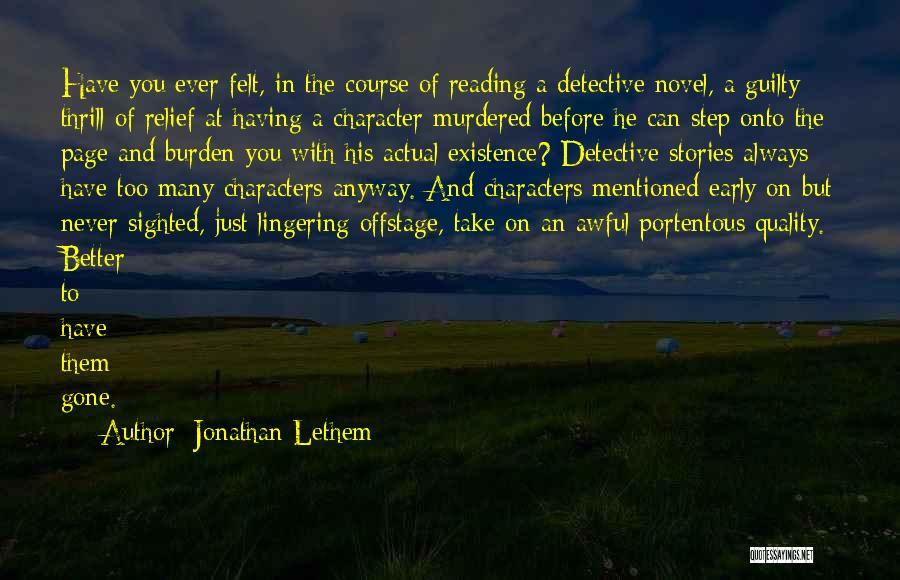 Jonathan Lethem Quotes 950808