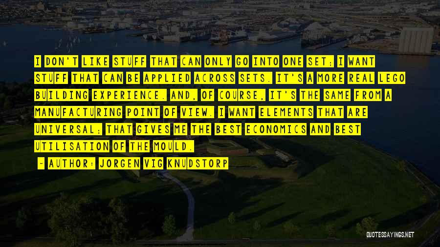 Jorgen Vig Knudstorp Quotes 199927