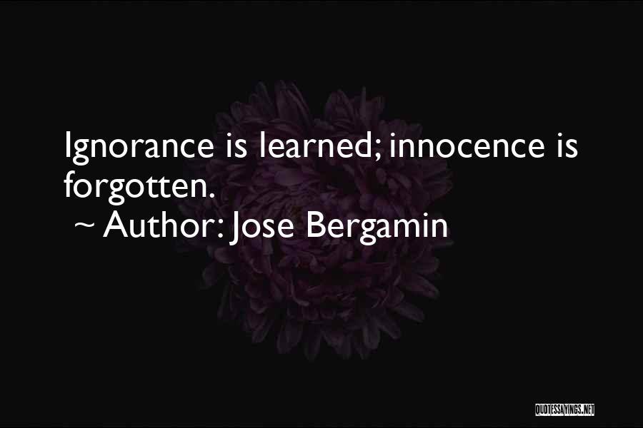 Jose Bergamin Quotes 183185