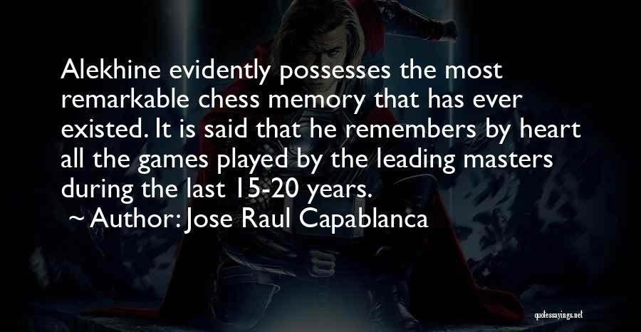 Jose Raul Capablanca Quotes 1112665