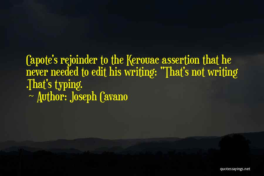 Joseph Cavano Quotes 846472