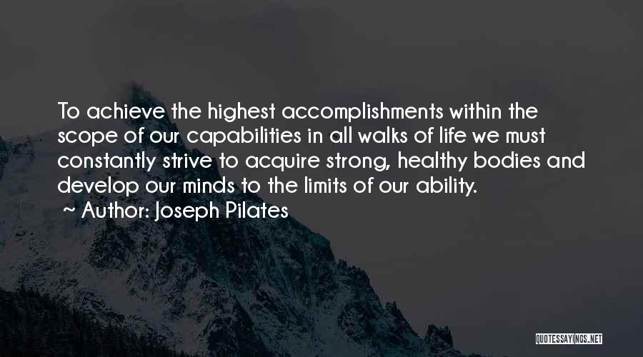 Joseph Pilates Quotes 1321986