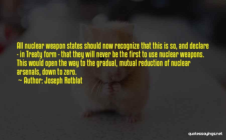 Joseph Rotblat Quotes 669715