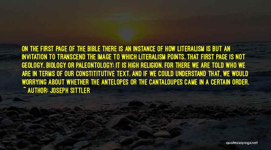 Joseph Sittler Quotes 988484