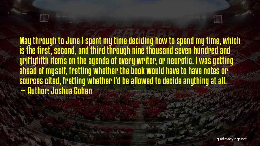 Joshua Cohen Quotes 1328984