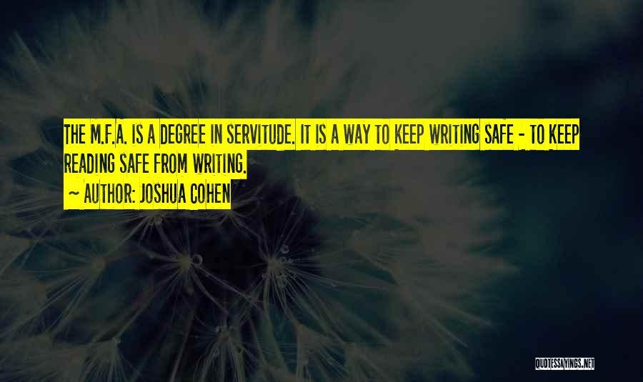 Joshua Cohen Quotes 1450214