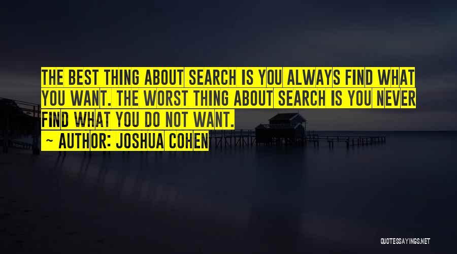 Joshua Cohen Quotes 1712392