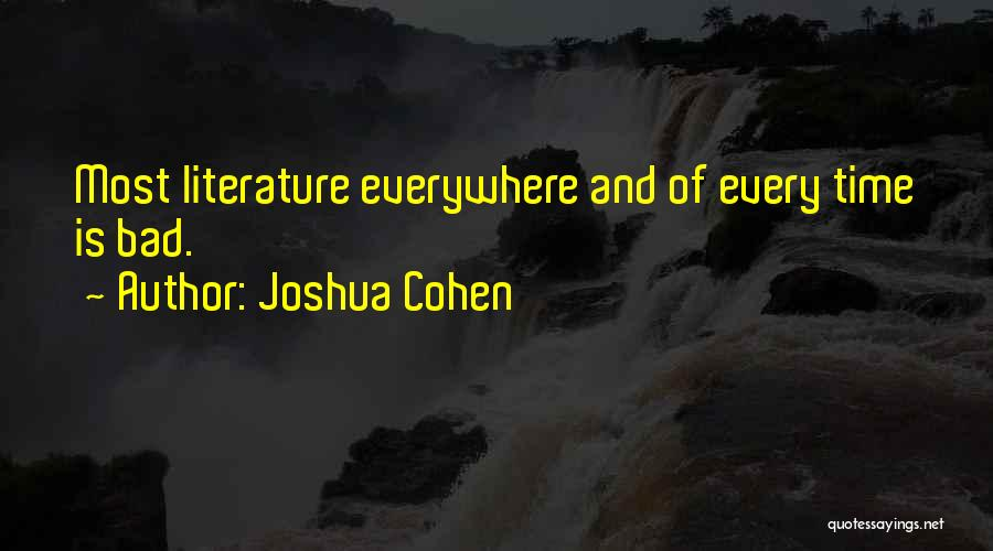 Joshua Cohen Quotes 1940088