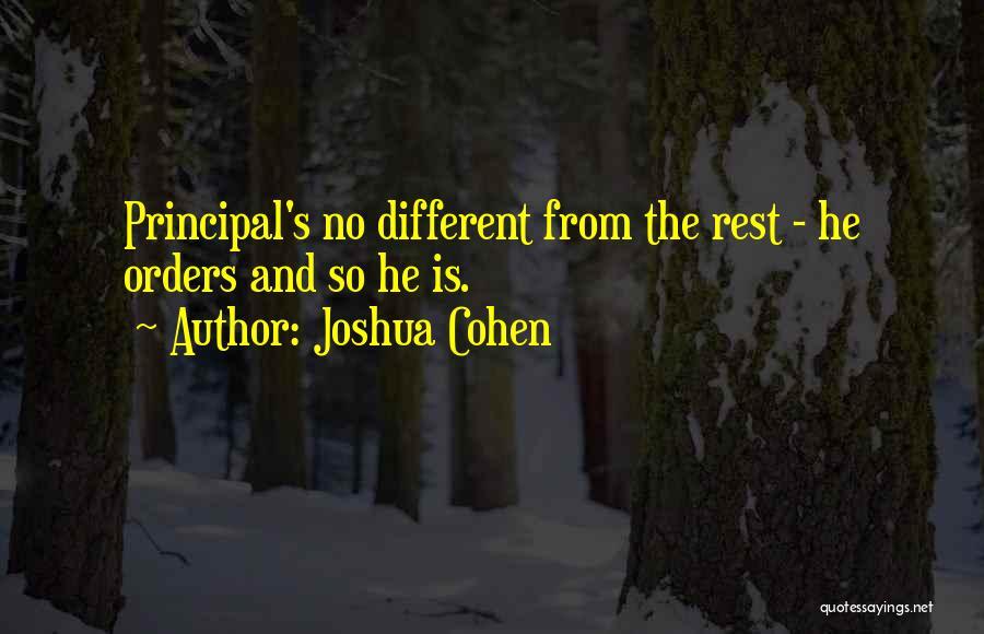 Joshua Cohen Quotes 379630