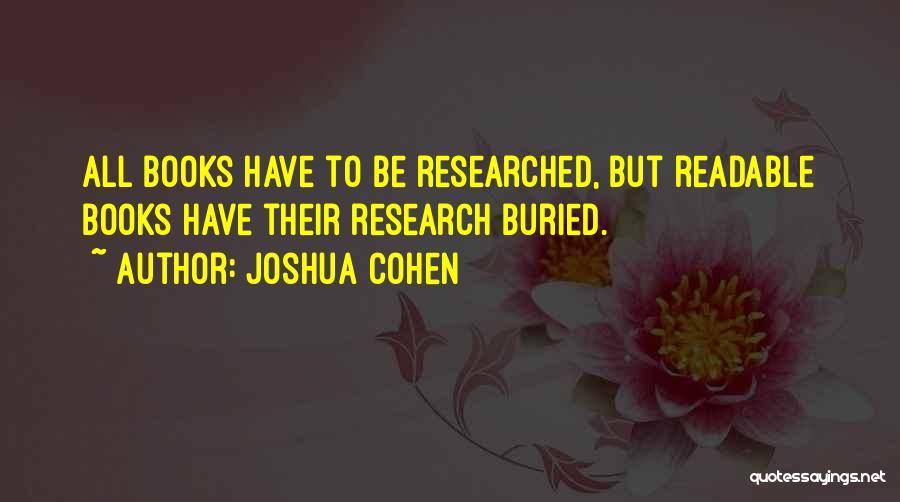 Joshua Cohen Quotes 430766