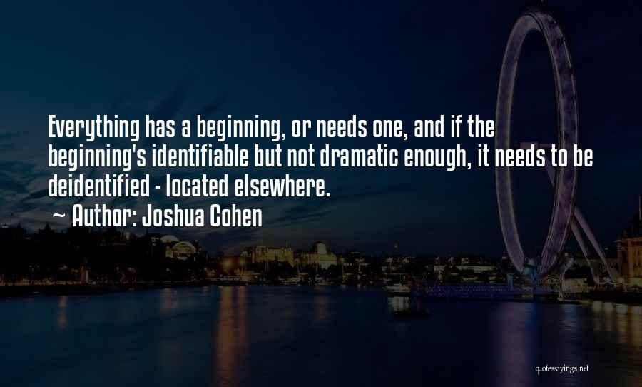 Joshua Cohen Quotes 614653