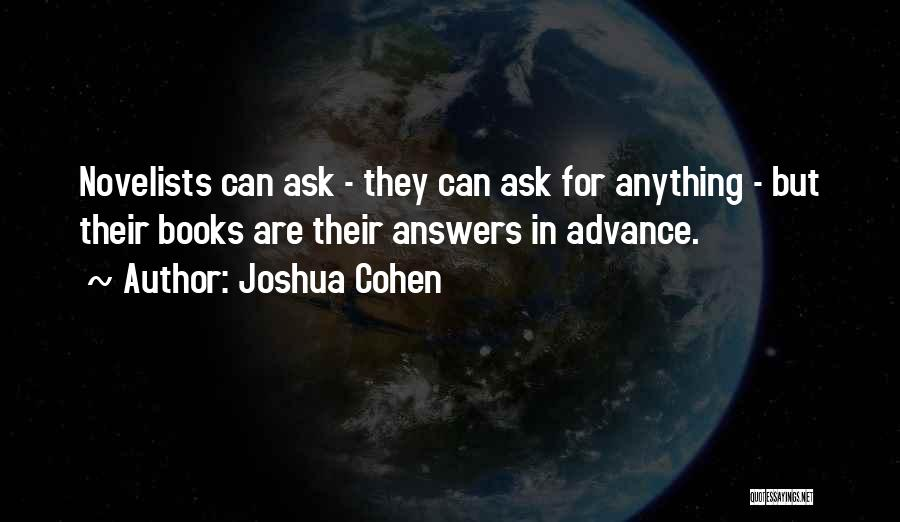 Joshua Cohen Quotes 820529