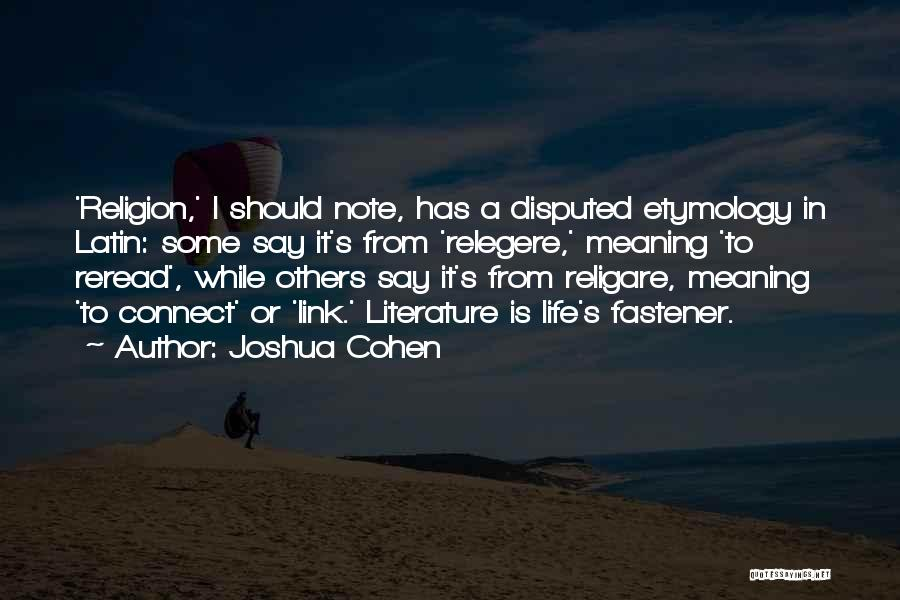 Joshua Cohen Quotes 861603