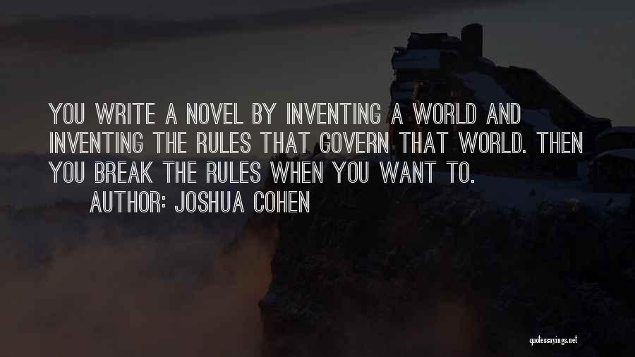 Joshua Cohen Quotes 971065