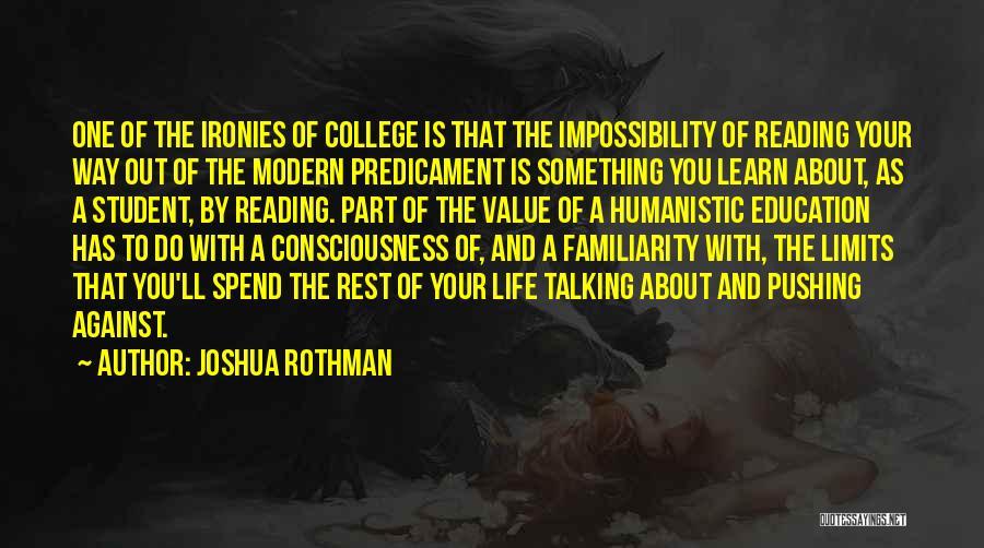 Joshua Rothman Quotes 198676