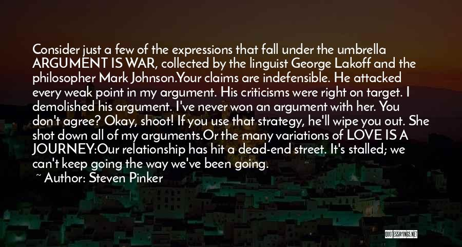 Journey Down The Road Quotes By Steven Pinker