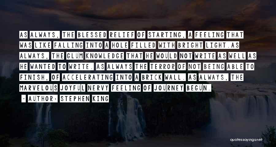 Journey Has Just Begun Quotes By Stephen King