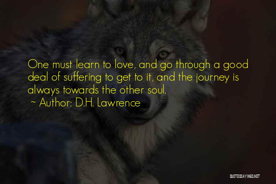 Journey Through Love Quotes By D.H. Lawrence