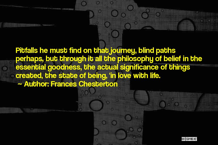 Journey Through Love Quotes By Frances Chesterton