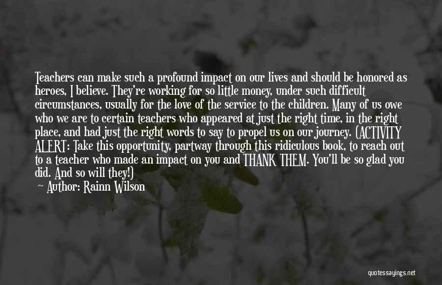 Journey Through Love Quotes By Rainn Wilson