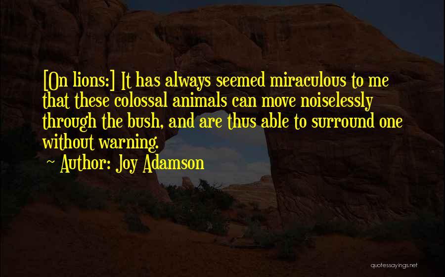 Joy Adamson Quotes 1773879