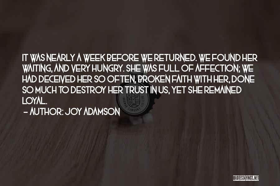 Joy Adamson Quotes 888796