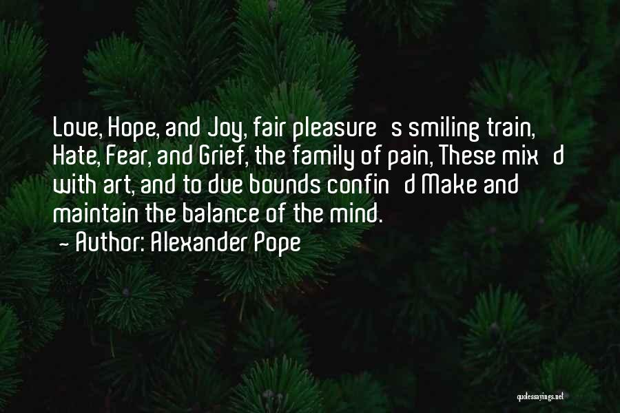 Joy And Family Quotes By Alexander Pope