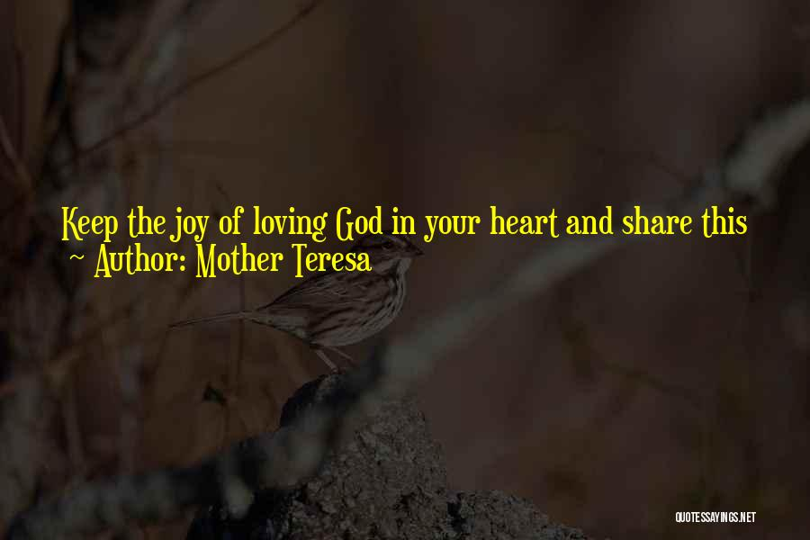Joy And Family Quotes By Mother Teresa