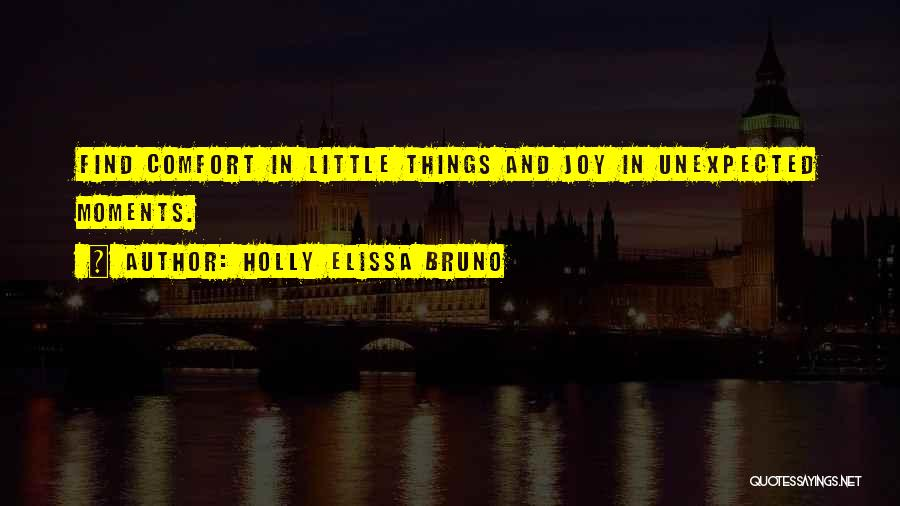 Joy In The Little Things Quotes By Holly Elissa Bruno