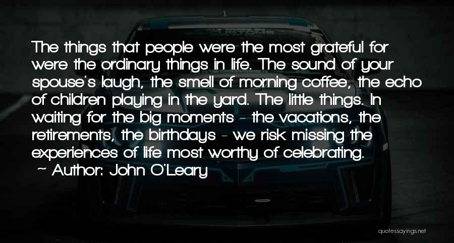 Joy In The Little Things Quotes By John O'Leary
