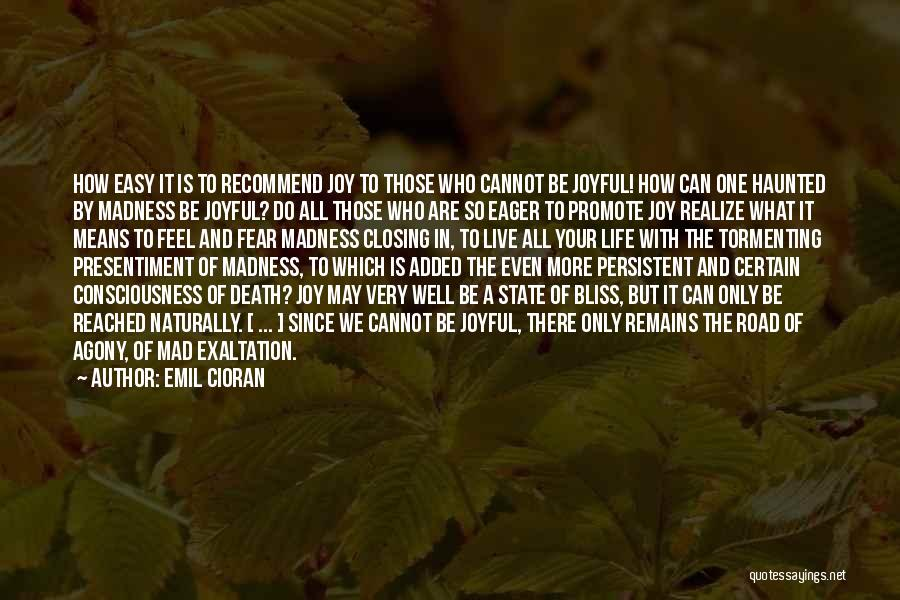 Joy Road Quotes By Emil Cioran