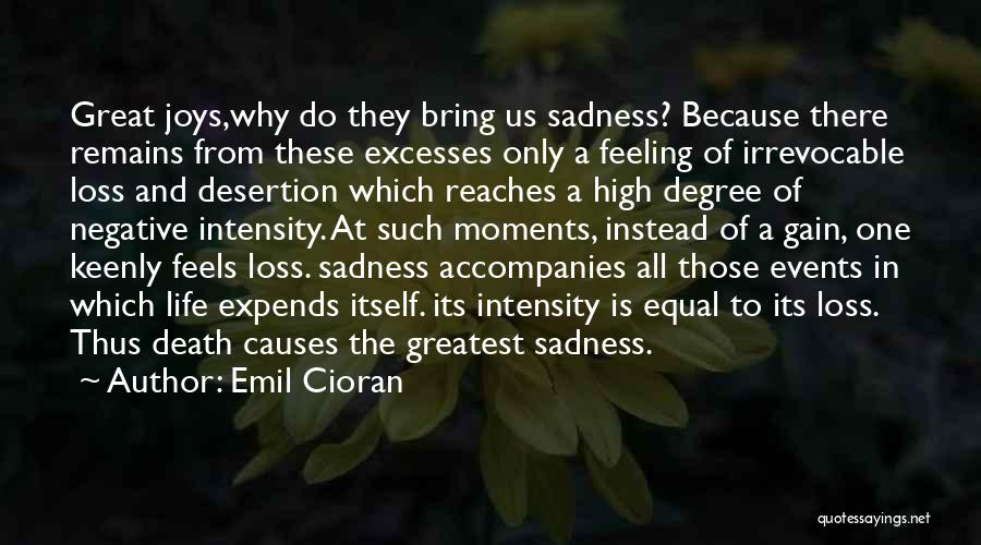 Joys In Life Quotes By Emil Cioran